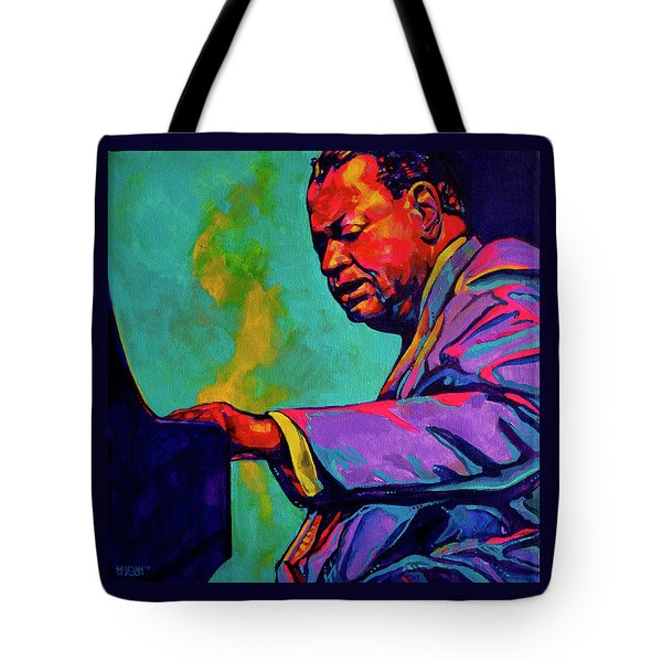 Piano Player Tote Bag by Derrick Higgins