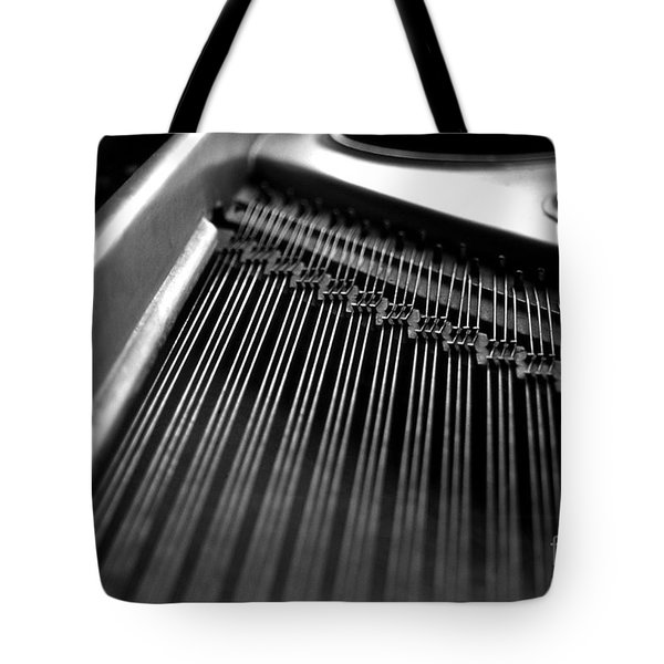 Piano Strings Tote Bag by Tim Hester