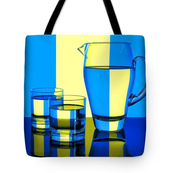 Pichet Et Verres Tote Bag by Nikolyn McDonald