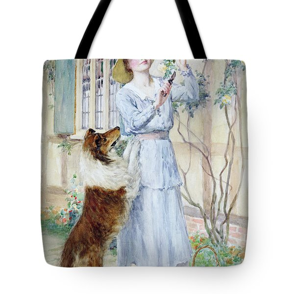 Picking Roses Tote Bag by William Henry Margetson