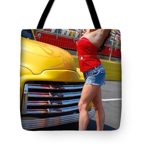 Pickup Pinup Tote Bag by Mark Spearman