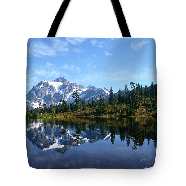 Picture Lake Tote Bag by Priya Ghose