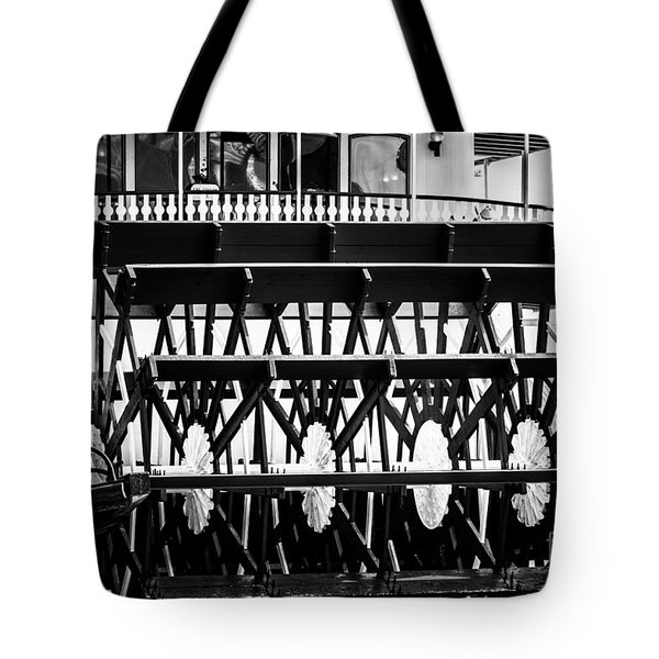 Picture of Natchez Steamboat Paddle Wheel in New Orleans Tote Bag by Paul Velgos