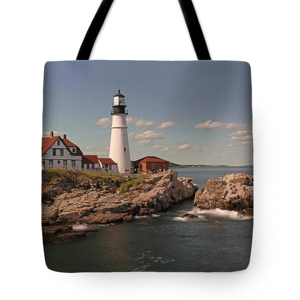 Picturesque Portland Head Light Tote Bag by Juergen Roth