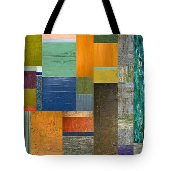 Pieces Parts V Tote Bag by Michelle Calkins