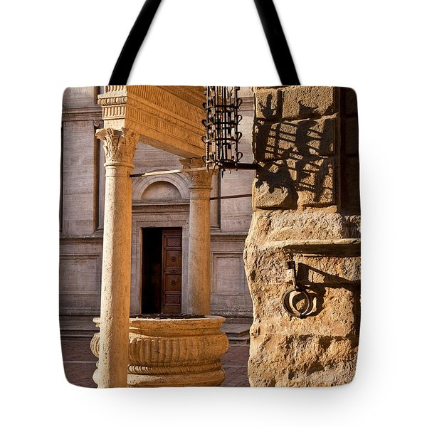 Pienza Tuscany Tote Bag by Brian Jannsen