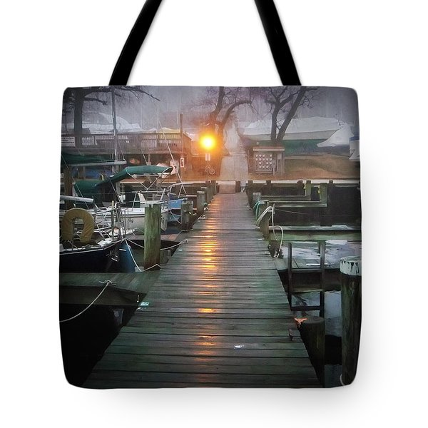 Pier Light Tote Bag by Brian Wallace
