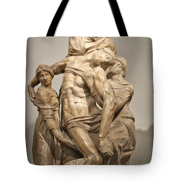 Pieta By Michelangelo Tote Bag by Melany Sarafis