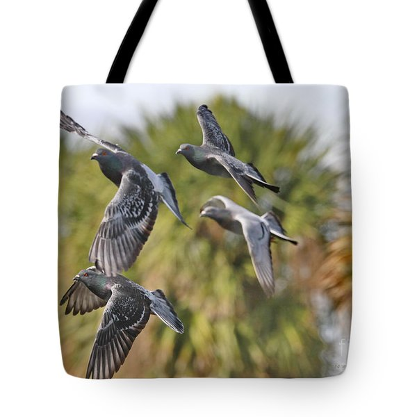 Pigeon Brigade Tote Bag by Deborah Benoit