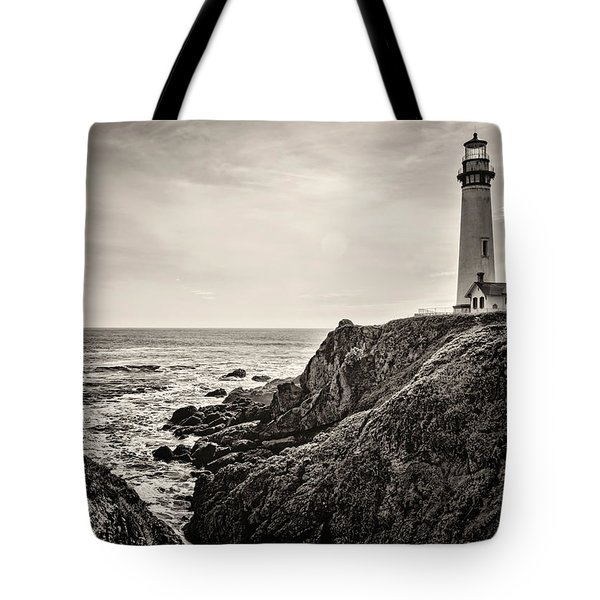 Pigeon Point Light Tote Bag by Heather Applegate