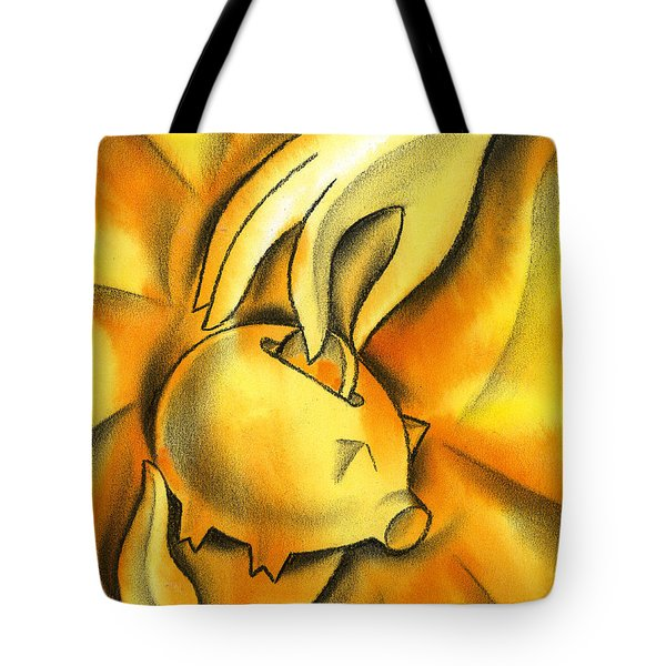 Piggy bank Tote Bag by Leon Zernitsky