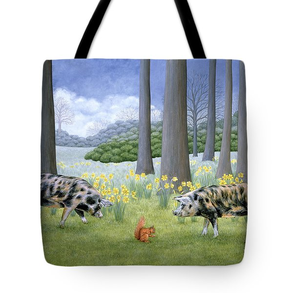 Piggy In The Middle Tote Bag by Ditz