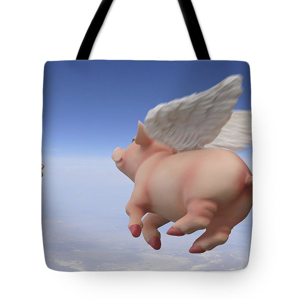 Pigs Fly 2 Tote Bag by Mike McGlothlen