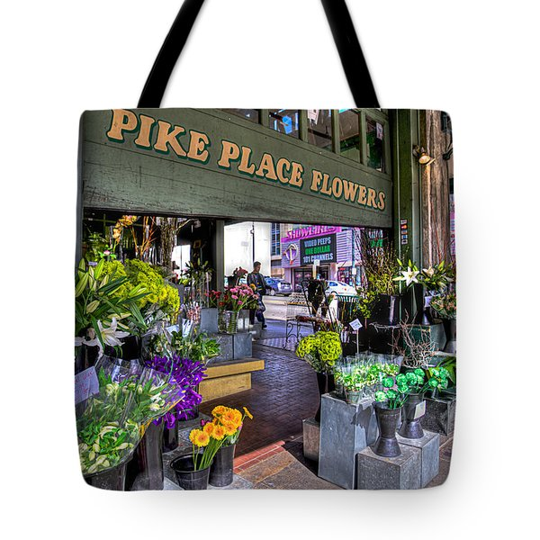 Pike Place Flowers Tote Bag by Spencer McDonald