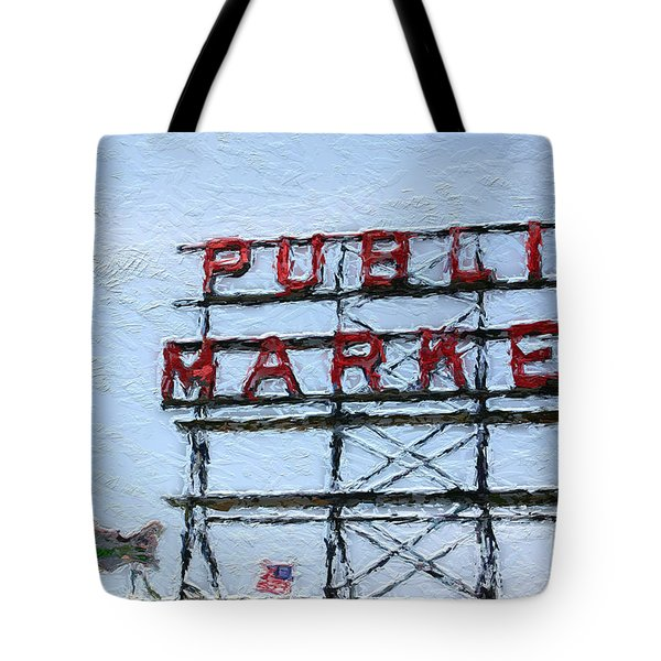 Pike Place Market Tote Bag by Linda Woods