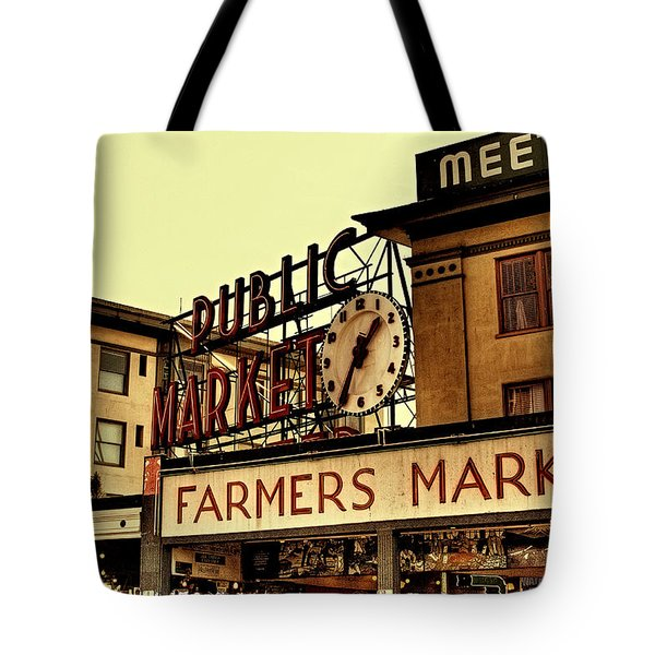 Pike Place Market - Seattle Washington Tote Bag by David Patterson