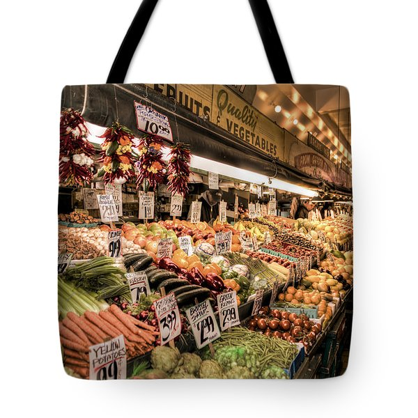 Pike Place Veggies Tote Bag by Spencer McDonald