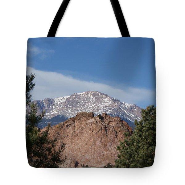 Pikes Peak 2 Tote Bag by Ernie Echols