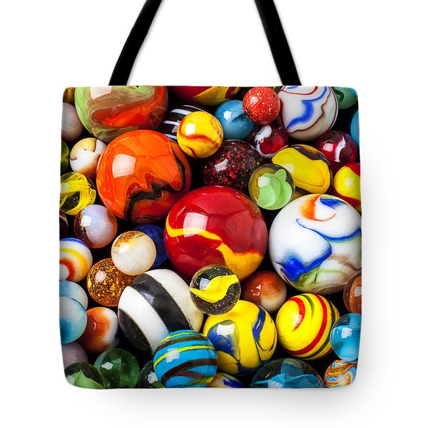 Pile Of Marbles Tote Bag by Garry Gay