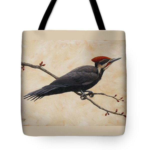 Pileated Woodpecker Tote Bag by Crista Forest