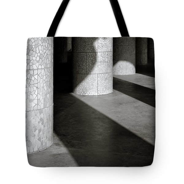 Pillars And Shadow Tote Bag by Dave Bowman
