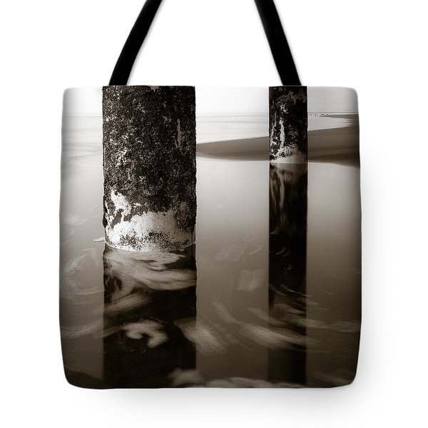 Pillars and Swirls Tote Bag by Dave Bowman