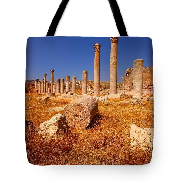 Pillars Of Ruin Tote Bag by FireFlux Studios
