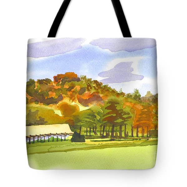 Pilot Knob Mountain Tote Bag by Kip DeVore