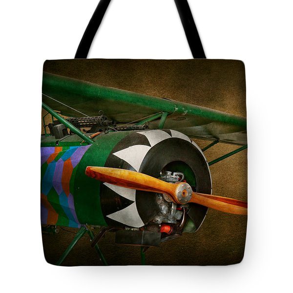 Pilot - Plane - German Ww1 Fighter - Fokker D Viii Tote Bag by Mike Savad