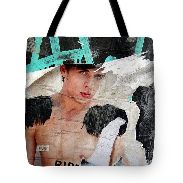 Pin Up Boy Tote Bag by Ed Weidman