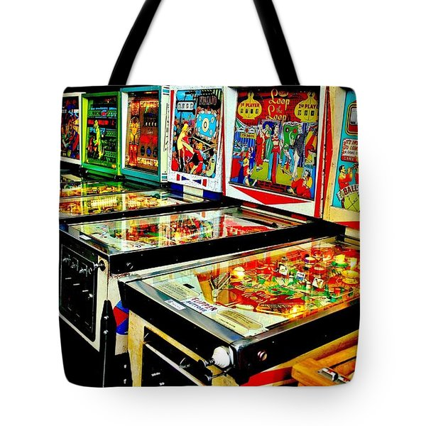 Pinball Alley Tote Bag by Benjamin Yeager