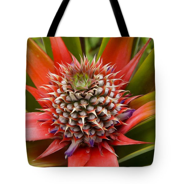 Pineapple Plant Tote Bag by Aged Pixel