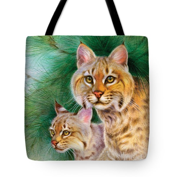 Pinewoods Bobcat Tote Bag by Tracy Herrmann