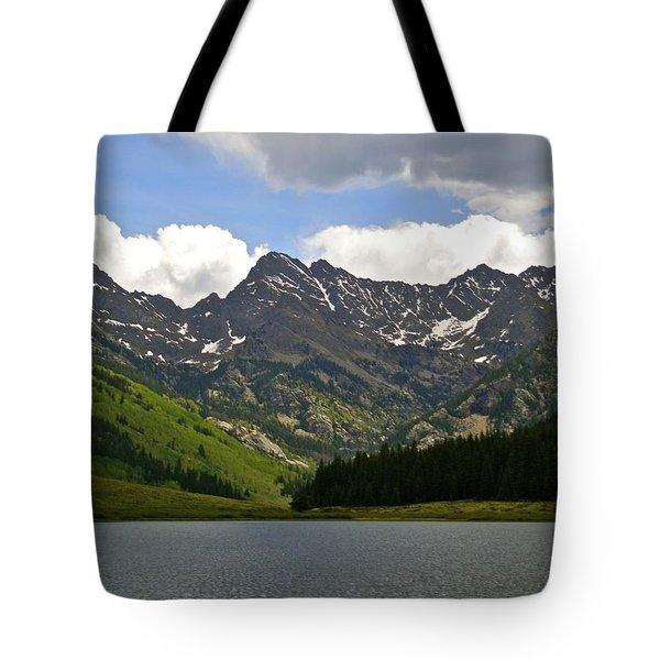 Piney Lake Vail Colorado Tote Bag by Kristina Deane