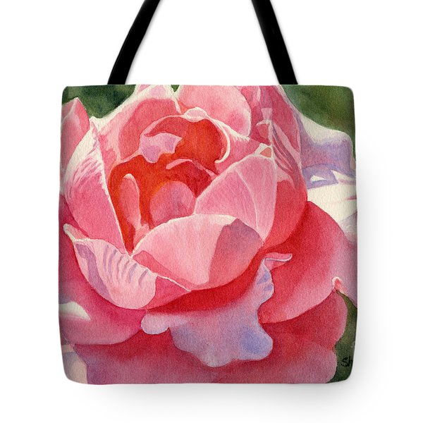Pink and Orange Rose Blossom Tote Bag by Sharon Freeman