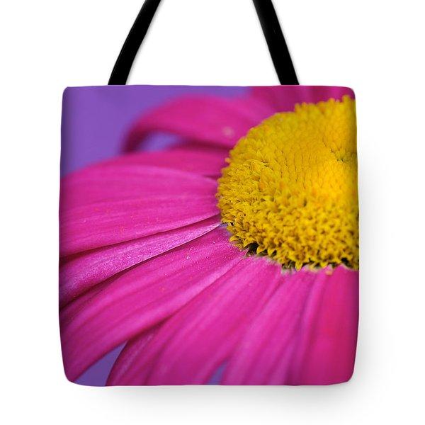 Pink And Purple Smile Tote Bag by Lisa Knechtel