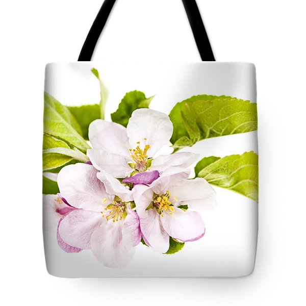 Pink Apple Blossoms Tote Bag by Elena Elisseeva