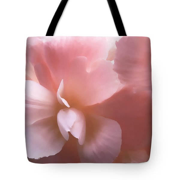 Pink Begonia Floral Tote Bag by Jennie Marie Schell