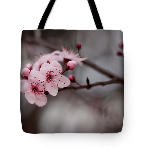 Pink Blossoms Tote Bag by Michelle Wrighton