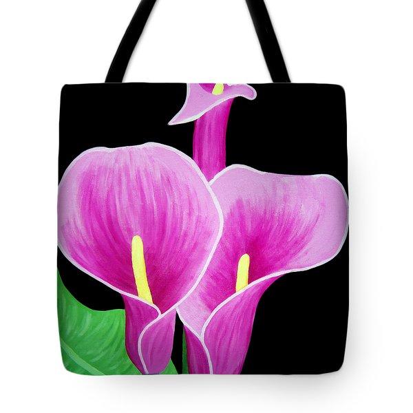 Pink Calla Lillies 2 Tote Bag by Angelina Vick