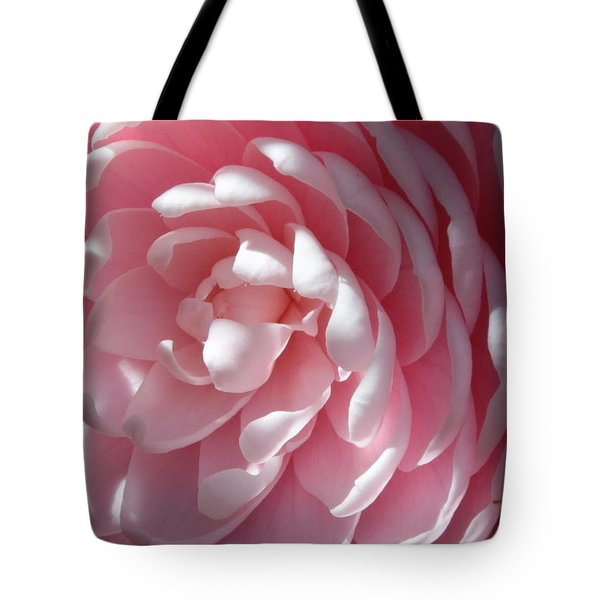 Pink Camellia Closeup Tote Bag by Carol Groenen