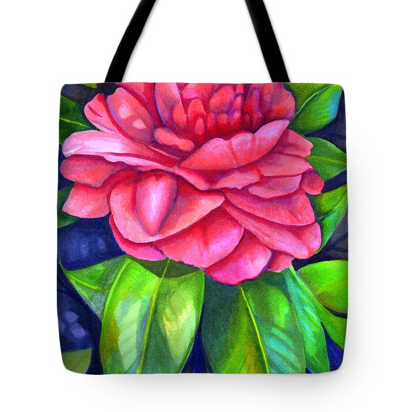 Pink Camellia Tote Bag by Elaine Hodges