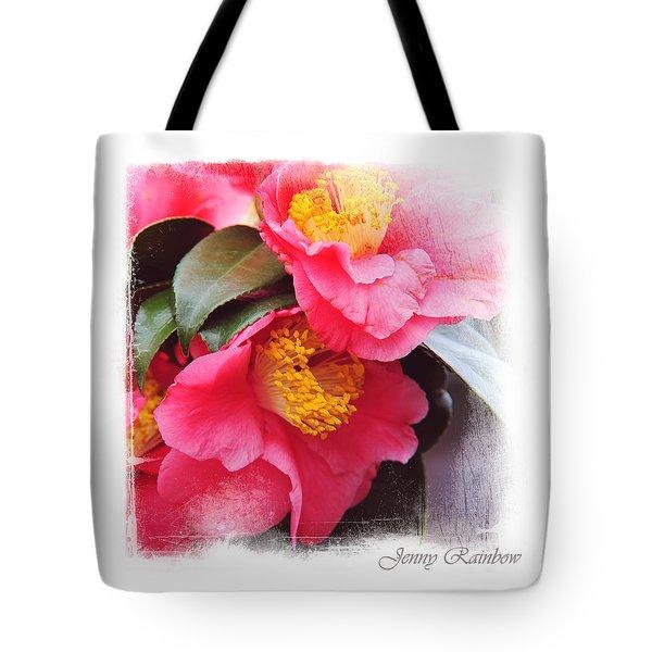 Pink Camellia. Elegant Knickknacks Tote Bag by Jenny Rainbow