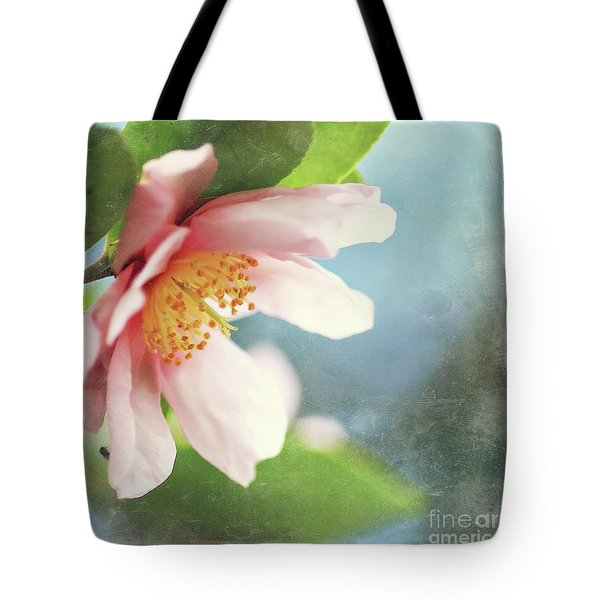 Pink Camellia Tote Bag by Sylvia Cook