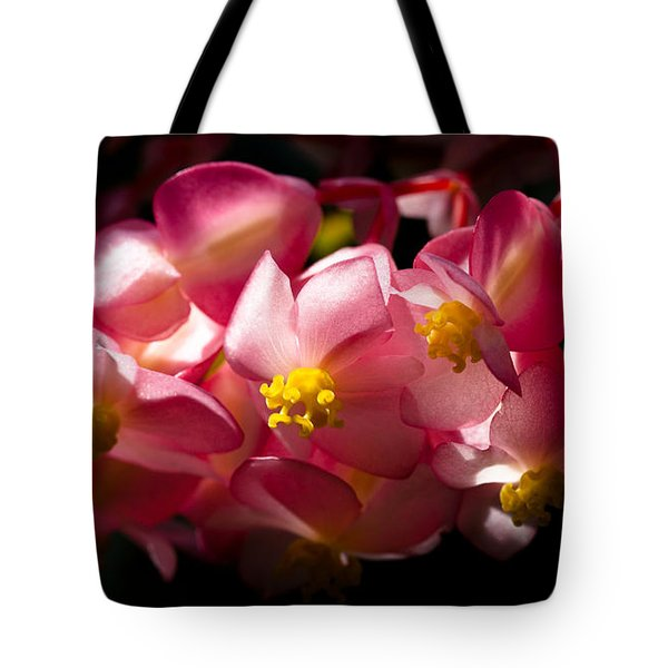 Pink Cascade Tote Bag by David Patterson