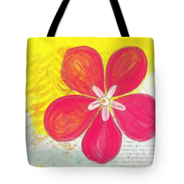 Pink Cherry Blossom Tote Bag by Linda Woods