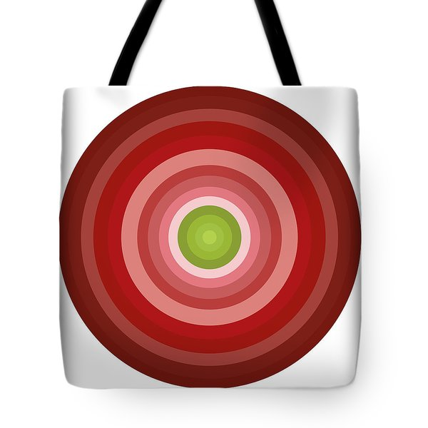Pink Circles Tote Bag by Frank Tschakert