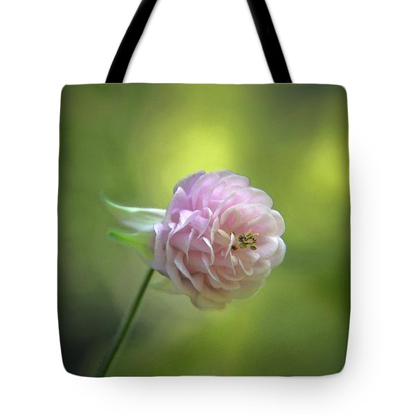 Pink Columbine Tote Bag by  Andrea Lazar