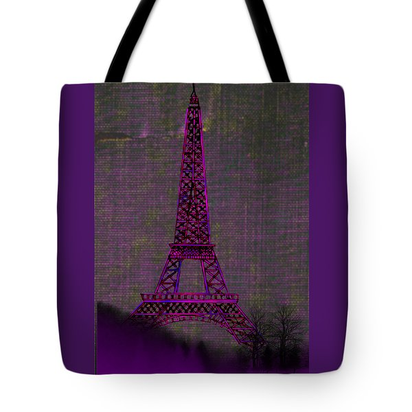 Pink Eiffel Tower Tote Bag by Kate Farrant
