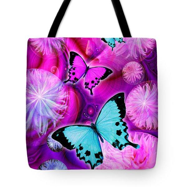 Pink Fantasy Flower Tote Bag by Alixandra Mullins